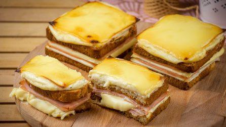 Croque monsieur con besciamella: la ricetta per farlo in casa filante e saporito!