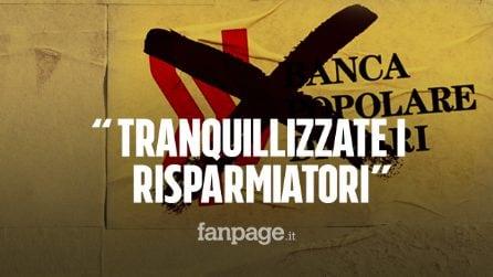 """Popolare di Bari, l'audio esclusivo: """"Convincete i clienti a non ritirare i soldi dai conti"""""""