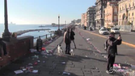 Procede a rilento la raccolta dei rifiuti di Capodanno a Napoli