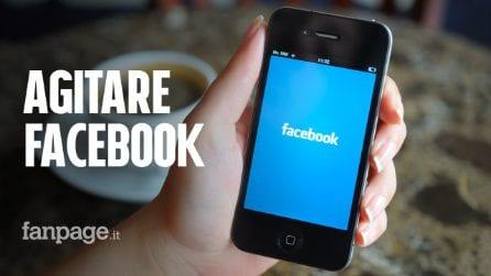 L'ultima novità di Facebook: ecco cosa succede se agiti lo smartphone