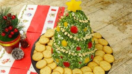 Albero di formaggio cremoso: l'idea originale per un aperitivo natalizio che sorprenderà tutti!