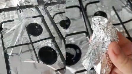 Le griglie della cucina unte e incrostate: il metodo veloce per pulirle