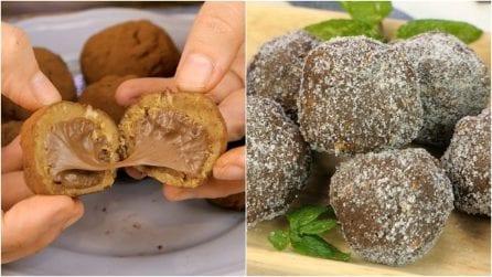3 ricette per dei tartufini dolci golosi e senza cottura!