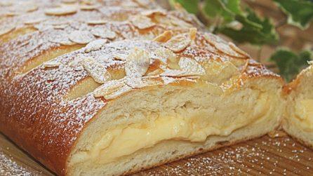 Treccia soffice con crema: la ricetta del dessert soffice e goloso