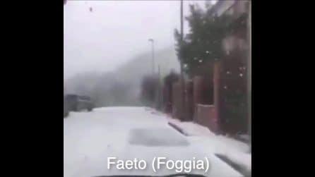 Freddo e neve al sud: i fiocchi cadono in Sicilia, Calabria e Puglia