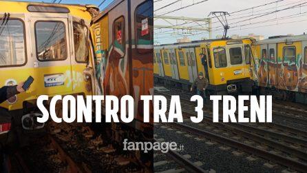 Incidente nella metropolitana di Napoli, scontro tra 3 treni a Piscinola: ci sono feriti