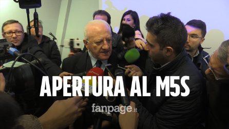 """Elezioni Regionali Campania, Vincenzo De Luca apre al dialogo tra PD e M5S: """"Ma solo sui temi"""""""