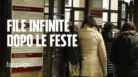 """Via Petroselli, caos per ritirare atti e multe negli uffici del Comune: """"File infinite"""""""