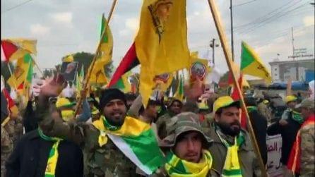 Migliaia di persone ai funerali di Soleimani, anche premier Iraq