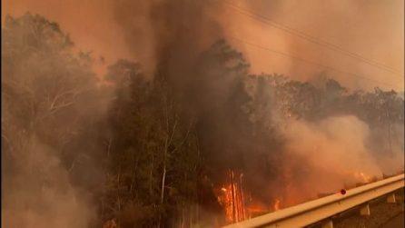 Incendi Australia, venti a 100 km l'ora creano un inferno di fuoco