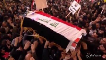 Iraq, processione funebre di Soleimani e al-Muhandis a Kerbala