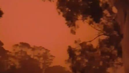 Incendi in Australia, anche il cielo è completamente rosso
