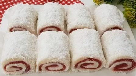 Rotolini cocco e ciliegie: il dessert senza cottura che vi conquisterà