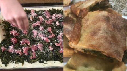 Pizza rustica con broccoli e salsiccia: buona, semplice e veloce