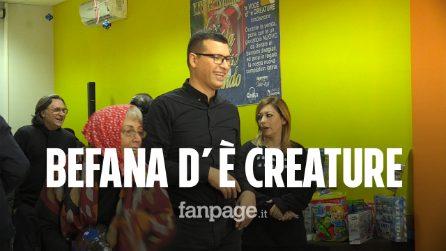Epifania, ai bimbi della Fondazione A'voce d'è Creature giocattoli raccolti in discoteca