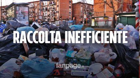 Napoli, raccolta dei rifiuti inefficiente, situazione critica a Soccavo