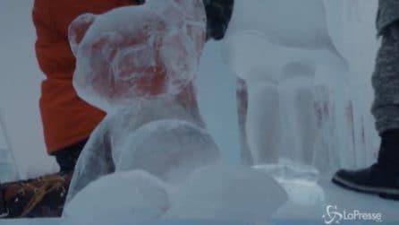 Artisti del ghiaccio si sfidano in Cina, le spettacolari sculture di Harbin