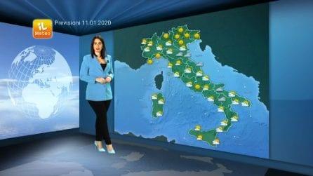 Previsioni meteo per sabato, 11 gennaio