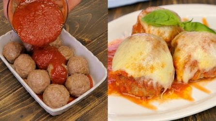 Easy Baked Meatballs with tomato sauce: ready in 30 minutes!