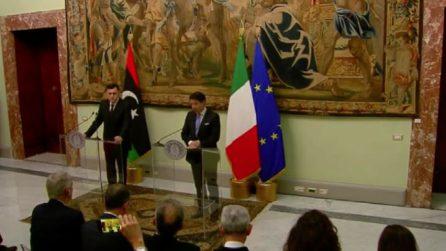 """Libia, Conte a Sarraj: """"estremamente preoccupati per escalation"""""""