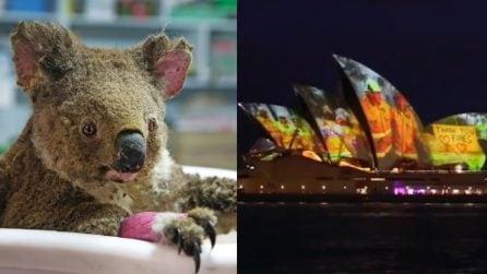 Australia, vigili del fuoco eroi: i loro volti sulla Sydney Opera House