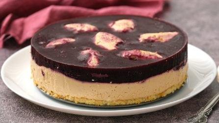 Cheesecake ai frutti di bosco: il dolce troppo bello e goloso per non provarlo!