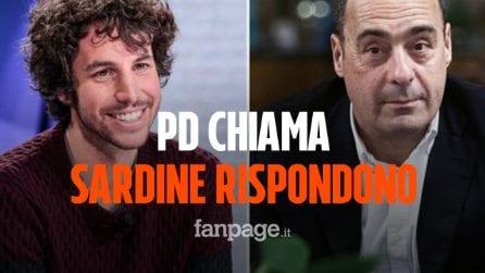 """Il Pd chiama e le Sardine rispondono. Santori: """"Zingaretti ci ha dato ascolto, l'idea è positiva"""""""