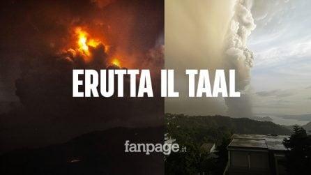 """Filippine, erutta vulcano Taal: 450mila evacuati. La Farnesina: """"Evitate gli spostamenti"""""""