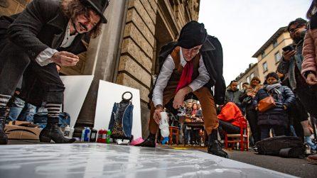 Achille Lauro artista di strada a Piazza Duomo: indizi per Sanremo 2020?