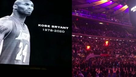 Kobe Bryant, la reazione commovente dei fan al Madison Square Garden