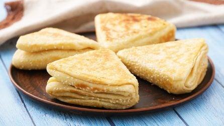 Triangoli di pane sfogliato: un pane così originale non l'avete mai provato!