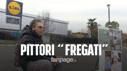 """Roma, pittori di strada 'fregati' dal comune: """"Sbattuti in periferia non lavoreremo più"""""""