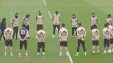 Il Real Madrid ricorda Kobe Bryant: prima dell'allenamento un minuto di raccoglimento