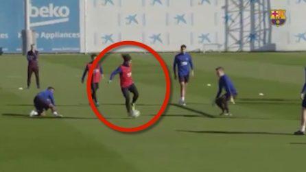 Griezmann si prende la scena davanti a Messi: gol stupendo