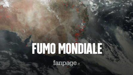 Incendi in Australia: il fumo ha fatto il giro del mondo aggravando la situazione climatica globale