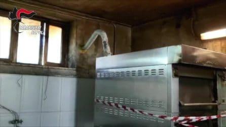 Acerra, scoperto panificio abusivo in casa: impastatrici, forni e legna da ardere piena di chiodi