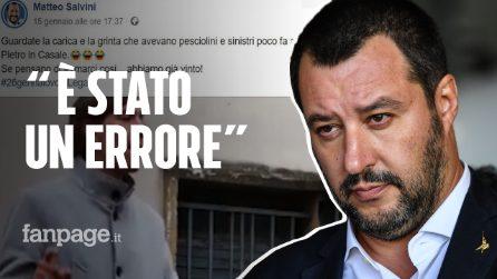 """Salvini ammette: """"Un errore aver ridicolizzato il ragazzo dislessico"""". Ma il video è ancora online"""