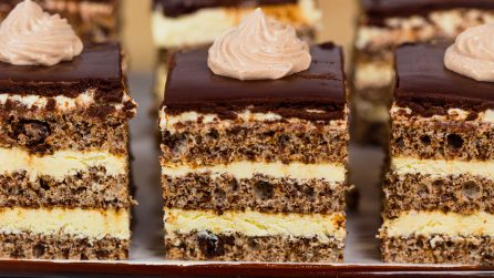 Dark chocolate and cream squares: a dessert to die for!
