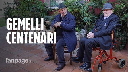 """Roma, festa per i gemelli centenari Egidio e Paris: """"Il segreto? Donne, buon cibo e un po' di vino"""""""