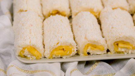 Rotolini al limone e cocco senza cottura: facili, sfiziosi e pieni di sapore!