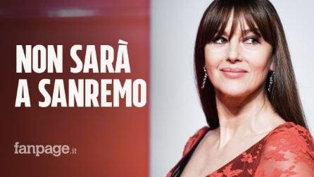 """Monica Bellucci dà forfait a Sanremo 2020: """"Con Amadeus il progetto è saltato"""""""