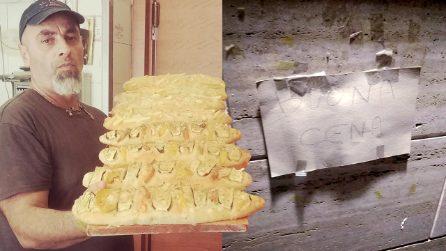 Fedele, il fornaio siciliano che ogni sera lascia il pane fuori al negozio per aiutare i bisognosi