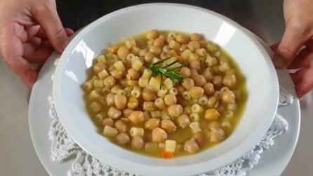 Pasta e ceci: la ricetta del primo piatto caldo e saporito