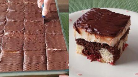 Quadrotti cioccolato e crema: la ricetta del dessert furbo e gustoso