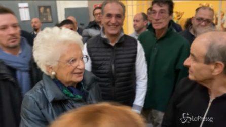 """San Vittore, il detenuto interrompe la Segre: """"Grazie Senatrice, è stato un dono conoscerla"""""""