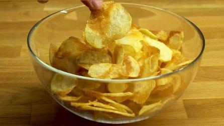 Come fare delle chips croccanti in casa!