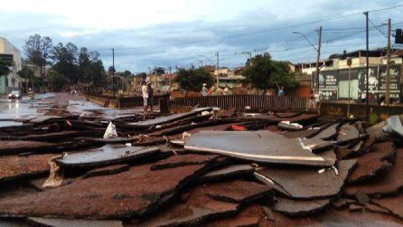 Brasile, Belo Horizonte: inondazioni, allagamenti e tetti divelti