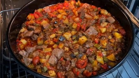 Spezzatino di vitello con verdure: la ricetta del secondo piatto saporito