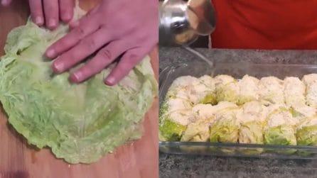 Involtini di verza ripieni: la ricetta per un secondo piatto davvero gustoso