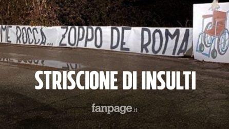"""Striscione di insulti degli ultras laziali contro Zaniolo apparso a Trigoria: """"Zoppo de Roma"""""""
